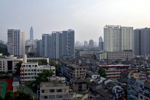 A View Of The Lucheng District of Wenzhou