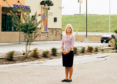 At a Taco Bell in Waco, Tex., chaplain Beth Howard spreads the word