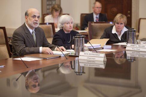 Fed's Ben S. Bernanke, Janet Yellen and Elizabeth Duke
