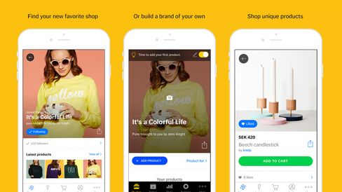 Tictail's app works for shoppers and sellers alike.