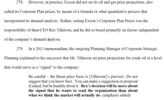 Inside Exxon's God Pod: Climate Suit Cites Emails, Tillerson