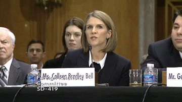Colleen Bell testifying before the Senate Foreign Relations Committee on Jan. 16, 2014.