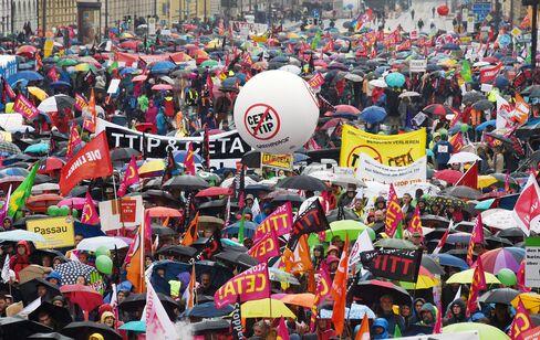 Demonstrations in Munich on Sept. 17.