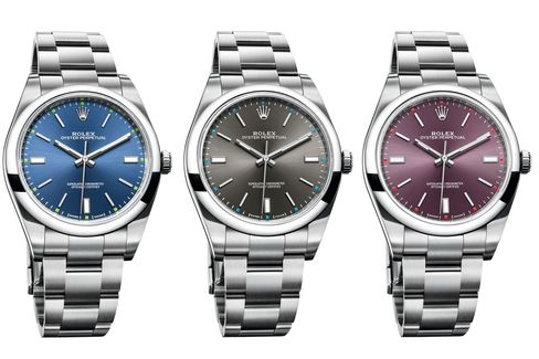 The new Oyster Perpetual 39mm comes in some less than sober colors.