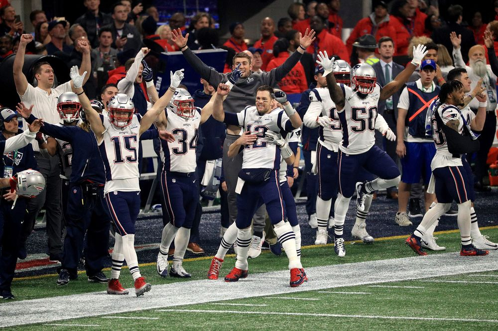 9b5a9b50517 The New England Patriots celebrate after winning the Super Bowl LIII.