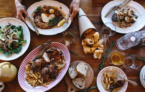 Food on display at The Publican.