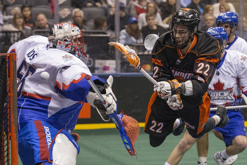 A National Lacrosse League game between the Buffalo Bandits and the Toronto  Rock. bec99a562