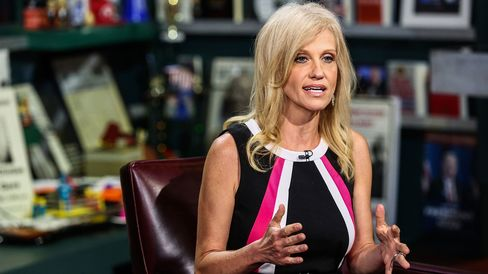 Kellyanne Conway speaks during an interview on Bloomberg TV in New York on July 5, 2016.