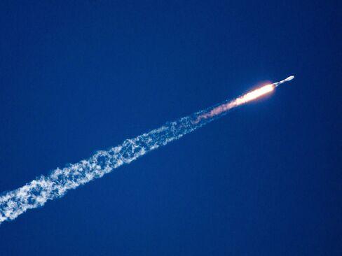 The Russian carrier rocket Soyuz-ST