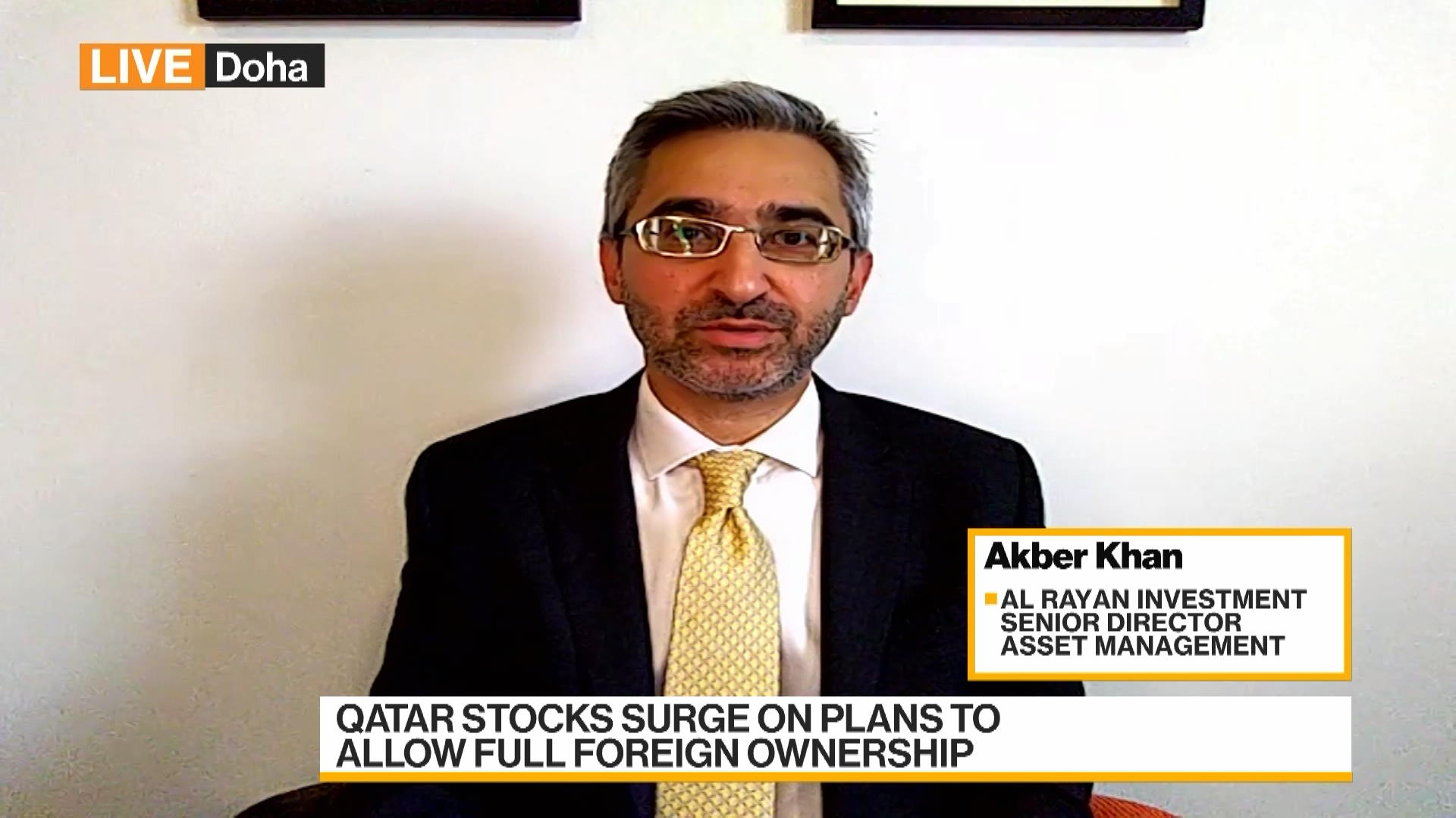 Al Rayan Investment's Khan on Qatar's Plans to Allow Foreign Ownership of Stocks, Iran Nuke Talks
