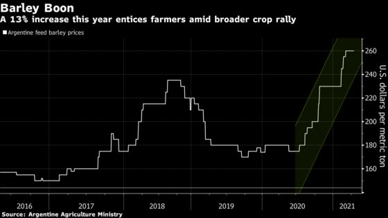 Australia-China Spat Opens Door for Grain Rival Argentina