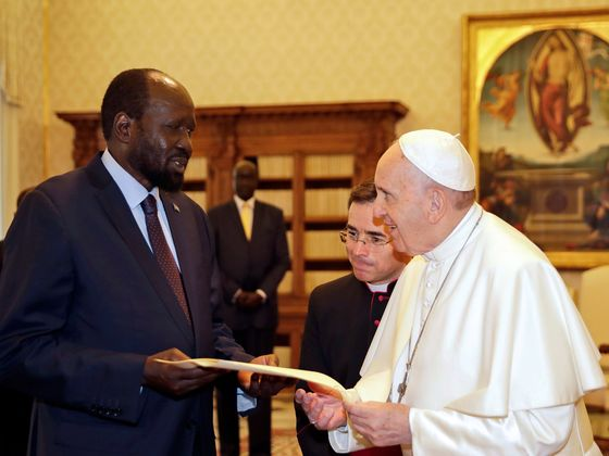 Pope Is South Sudan Leader's Hope in Search for Peace-Deal Funds