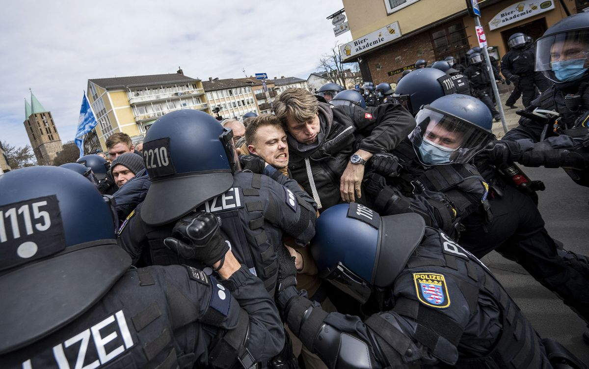 Germany: Police Clash With Protesters Against Virus Measures - Bloomberg