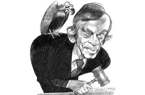 A caricature of Judge Thomas Griesa from El Cronista