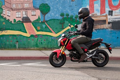 The Grom is perfectly suited for narrow city streets.