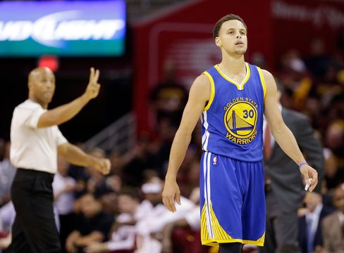 Stephen Curry of the Golden State Warriors during Game 6 of the NBA Finals.