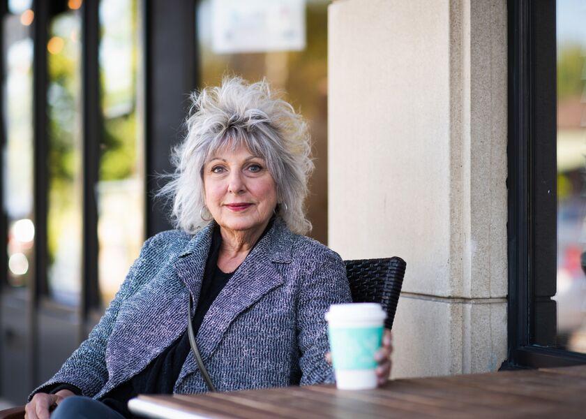Older woman cafe