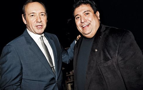 Pevida schmoozing with Spacey