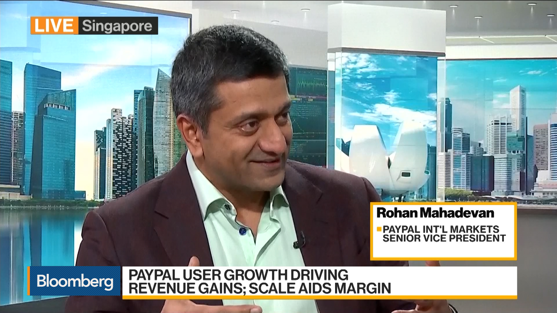 PayPal's Mahadevan Says Most Growth Coming From Asia