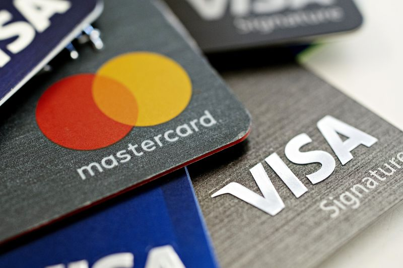 Visa Inc. and Mastercard Inc. credit cards