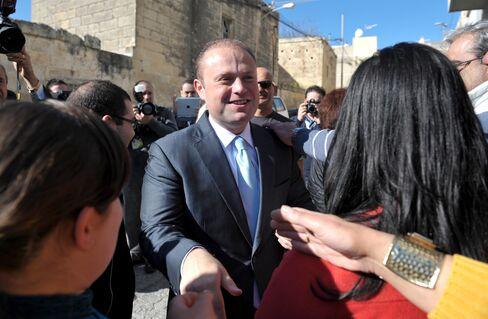 Malta's Labour Party Leader Joseph Muscat