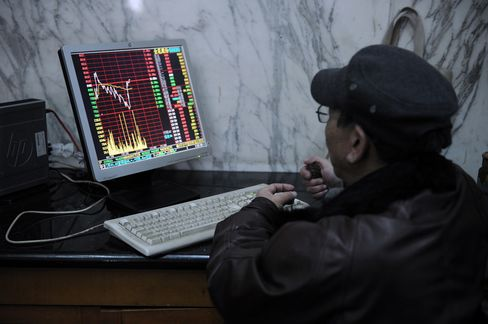 China's Stocks Decline Before Growth, Industrial Output Data