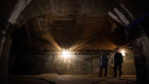 Inside the underground galleries, part of Nazi Germany 'Riese' construction project, under the Ksiaz castle in the area where the 'Nazi gold train' is supposedly hidden, on August 28, 2015 in Walbrzych, Poland.
