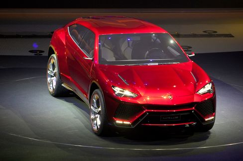 The Lamborghini Urus sport-utility concept vehicle, which was shown in China in 2012. It still does not exist in production.