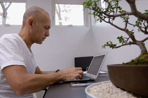 Josh Owen at work in his home studio.
