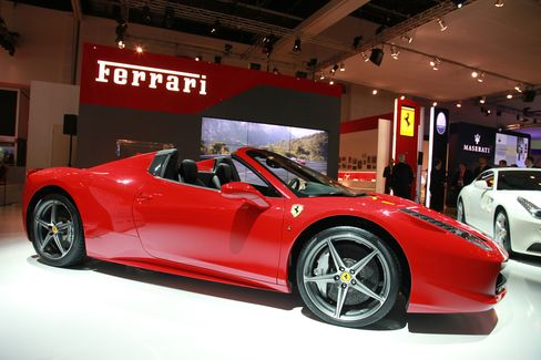 A Ferrari SpA 458 Spider Automobile