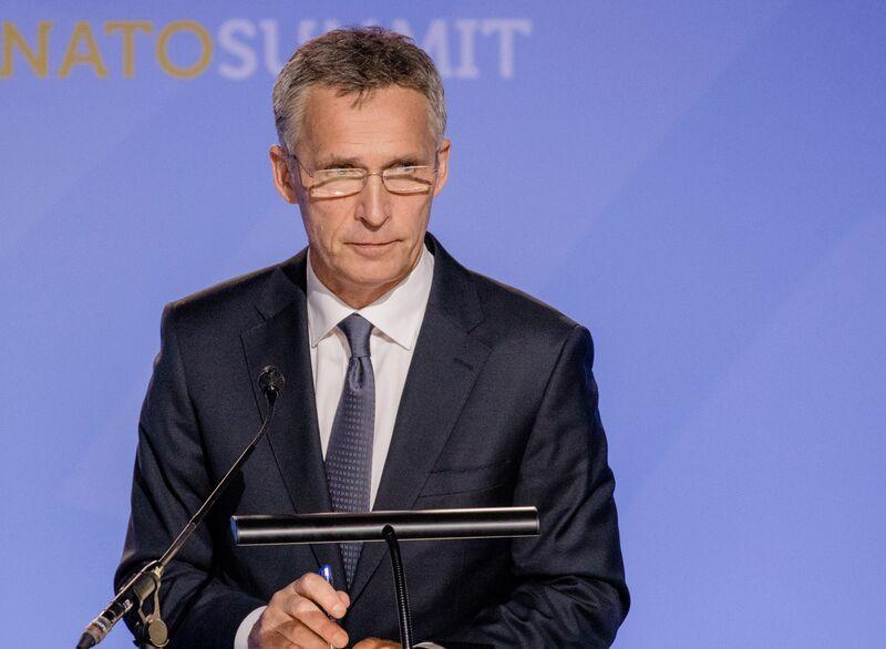 U.S. President Trump Speaks At NATO Summit
