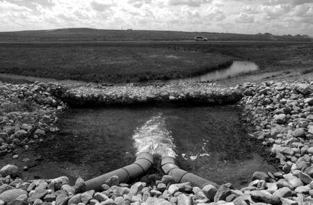 Discharging water near Gillette.