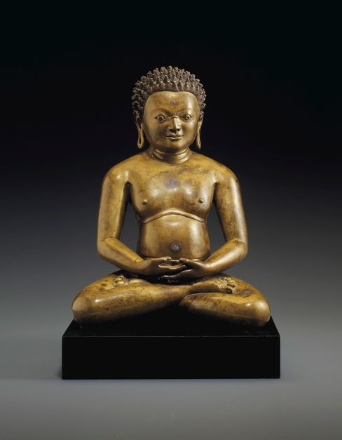 An 11th/12th century Tibetan bronze seated yogi that Liu bought for $4.9 million at Christie's New York on March 17.