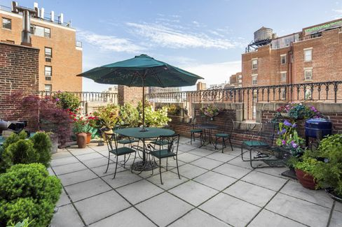 The 485-square-foot terrace.