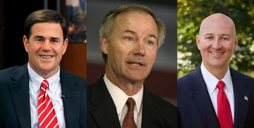 Governors-elect Doug Ducey, Asa Hutchinson and Pete Ricketts.
