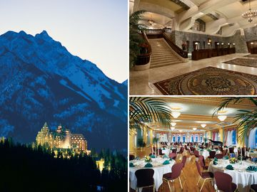 Two ghosts reportedly haunt the fairmont banff springs: a former bellman, sam; and doomed bride who tumbled down an elegant marble staircase on her wedding day.