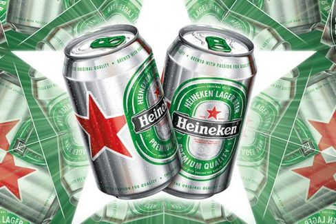 Heineken's New Red Star Beer Cans Want Your Attention