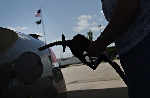 A Customer Fuels a Vehicle in Princeton