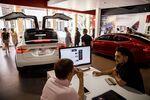 Inside The Tesla Inc. Newport Beach Showroom As Model 3 Hits Target