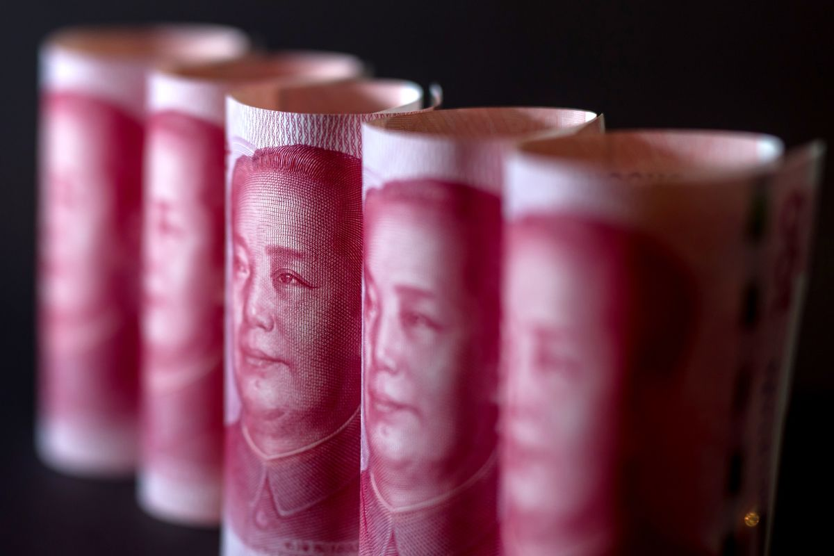 Offshore Yuan Tumbles to Record Low, China Stock Futures Slump