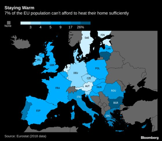 Europe Shivers, With Bulgarians Suffering Chilliest Homes