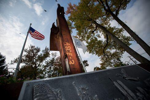 WTC steel displayed in Fort Lee, N.J.