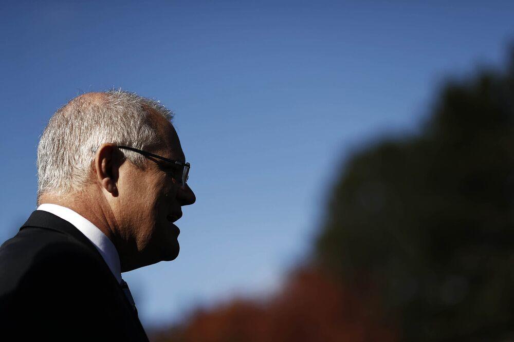 335c7a0f04 Protester Launches Egg Attack on Australia PM Scott Morrison - Bloomberg