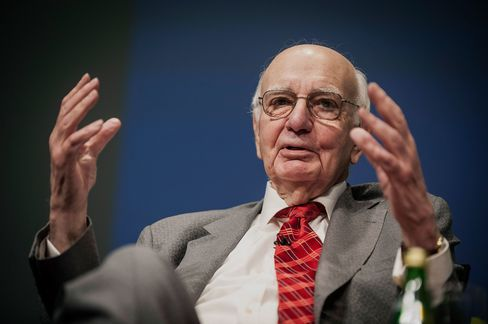 Paul Volcker, former chairman of the U.S. Federal Reserve.