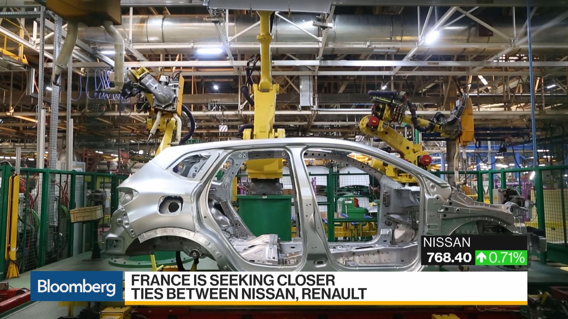 France Seeking Closer Ties Between Nissan and Renault