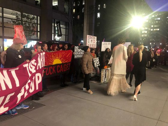 Protesters Target Money Managers at MoMA's Reopening Party