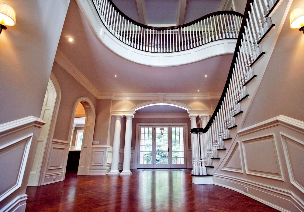 The Entryway Of A Luxury Home In Greenwich, Connecticut.