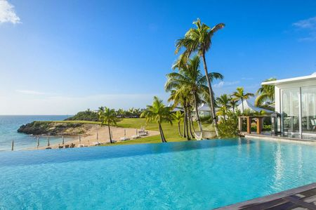 The Cove Eleuthera's infinity pool in the Bahamas.
