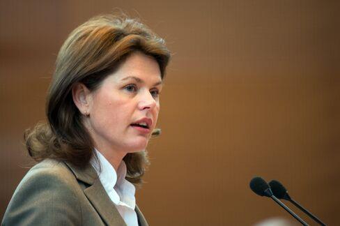 Slovenian Prime Minister Alenka Bratusek