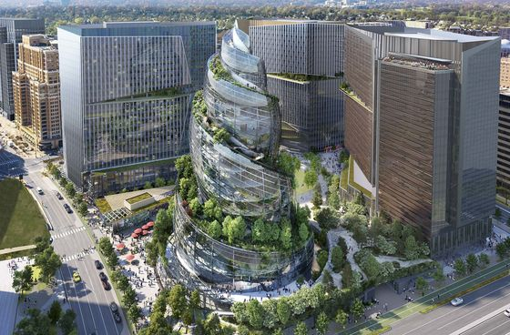 Amazon Proposes Plant-Filled Helix at New Virginia Headquarters